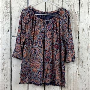 {LUCKY BRAND} Blouse Size 1X